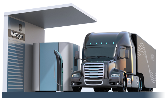 hydrogen fueling for truck